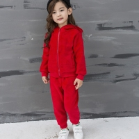 Girl Long Sleeve Sports Suit Girl Fashion Suit Autumn Winter New Brand Girl Design Hat Sports