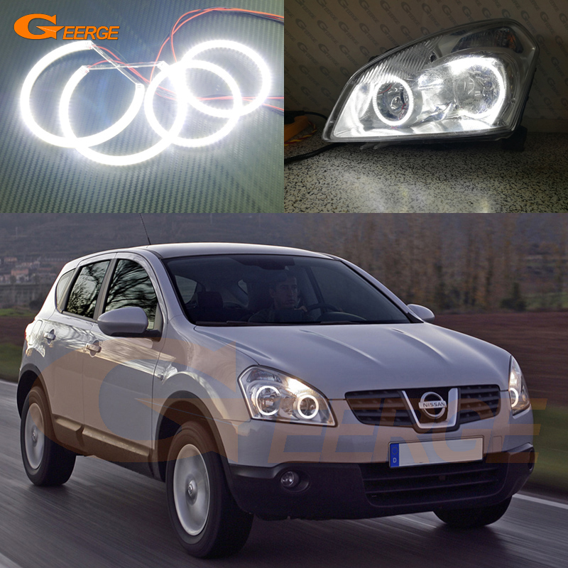 For Nissan Dualis J10 series 2007 2008 2009 Excellent Angel Eyes Ultra bright illumination smd led Angel Eyes Halo Ring kit