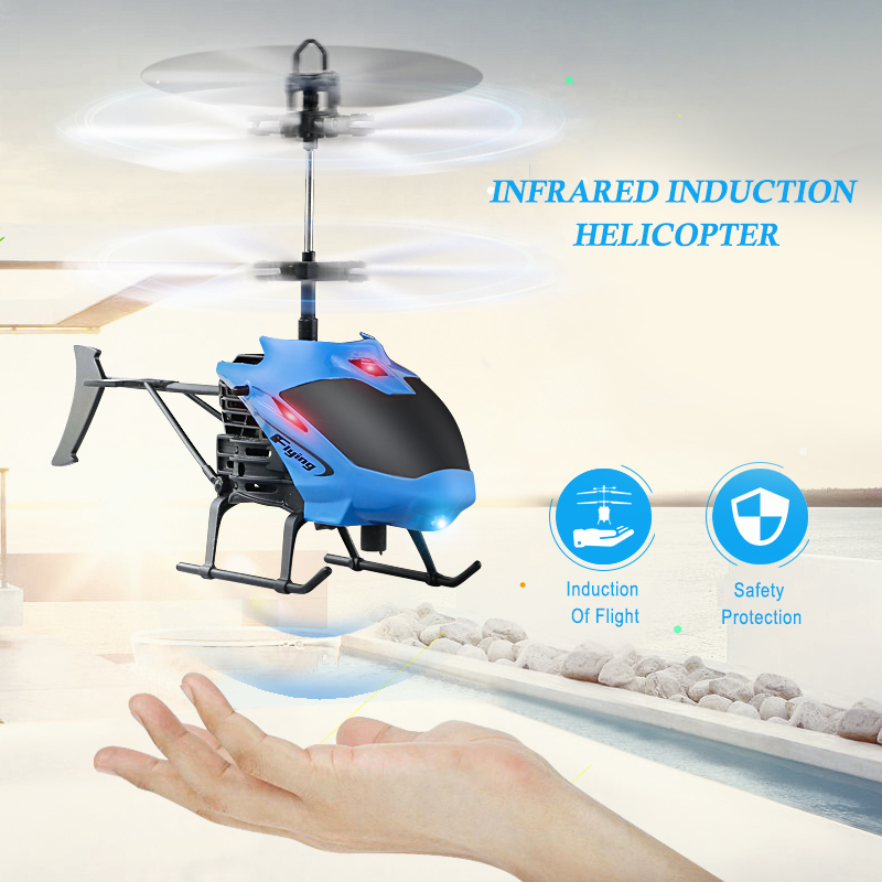 Mini RC Drone Flying RC Helicopter Aircraft Dron Infrared Induction  Remote Control Drone Dron Kids Toys Free Shipping TSLM2
