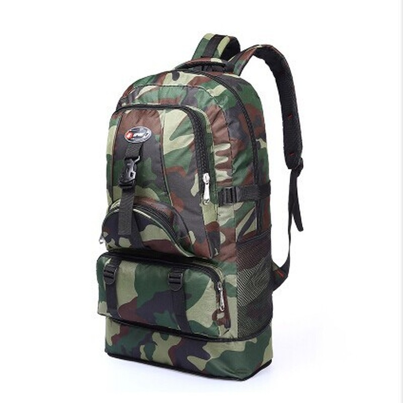 Super Large Capacity Pla Camouflage Multifunctional Pedestrianism Travel Mountaineering Backpack China's Wind Luggage Bags