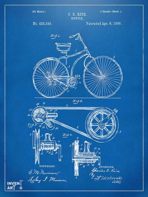 F3689 24x32 inch bicycle patent art blueprint modern art prints f3689 24x32 inch bicycle patent art blueprint modern art prints motivation science malvernweather Gallery