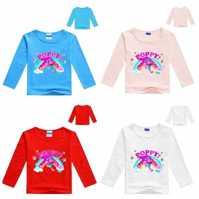 2 8years poppy girls t shirt long sleeves kids boys clothing brand christmas shirt - Christmas Shirts For Boys