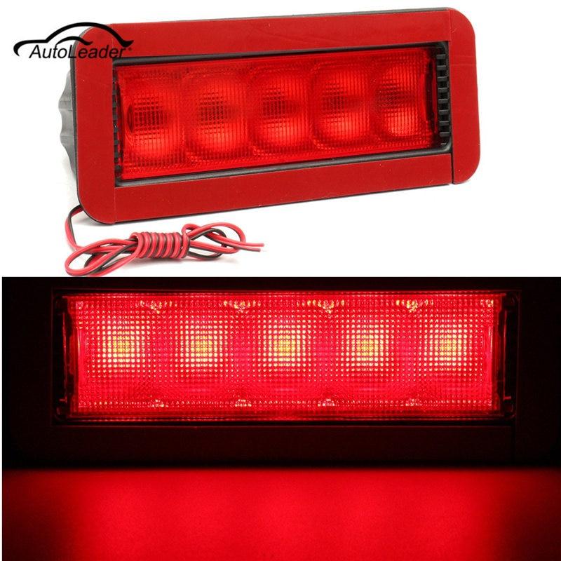 1pcs СИД стоп хвост свет Красный автомобиль задний освещение 5led 12 В высокой горе рычаг третий 3-й автомобиль светодиодные 0.5 W пластик