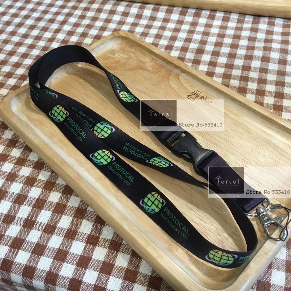 imágenes para 400 unids custom cordón de cuello con su propia impresión de la insignia d por FEDEX