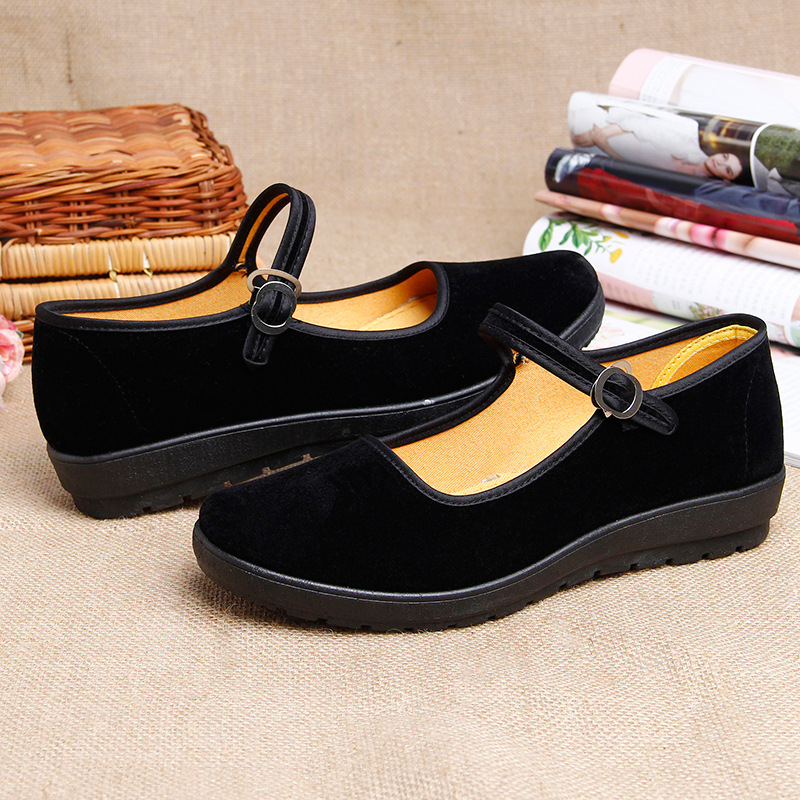 2018 new canvas shoes female black work walking shoes flat shallow mouth female walking single shoes ALH1-ALH82018 new canvas shoes female black work walking shoes flat shallow mouth female walking single shoes ALH1-ALH8