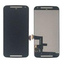 Czarny Wyświetlacz LCD + Ekran Dotykowy Digitizer Zgromadzenie Dla Motorola Moto 2nd Gen G2 G XT1063