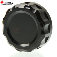 New Aluminum High quality Motorcycle Front Fluid Reservoir Cap Cover Cylinder for Kawasaki Z900 Z1000 Z800 Z750