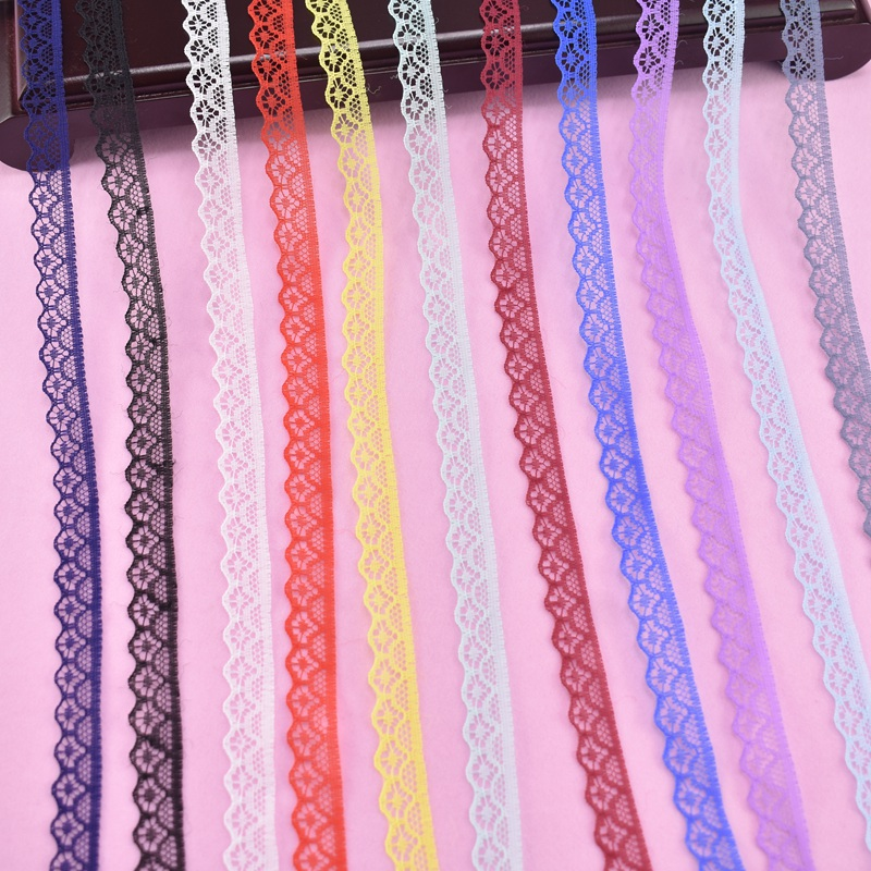 10Yards/Lot Lace Ribbon Tape Width14mm Lace Trim Fabric DIY Embroidered for Sewing Accessories Wedding Dress African Lace Fabric image