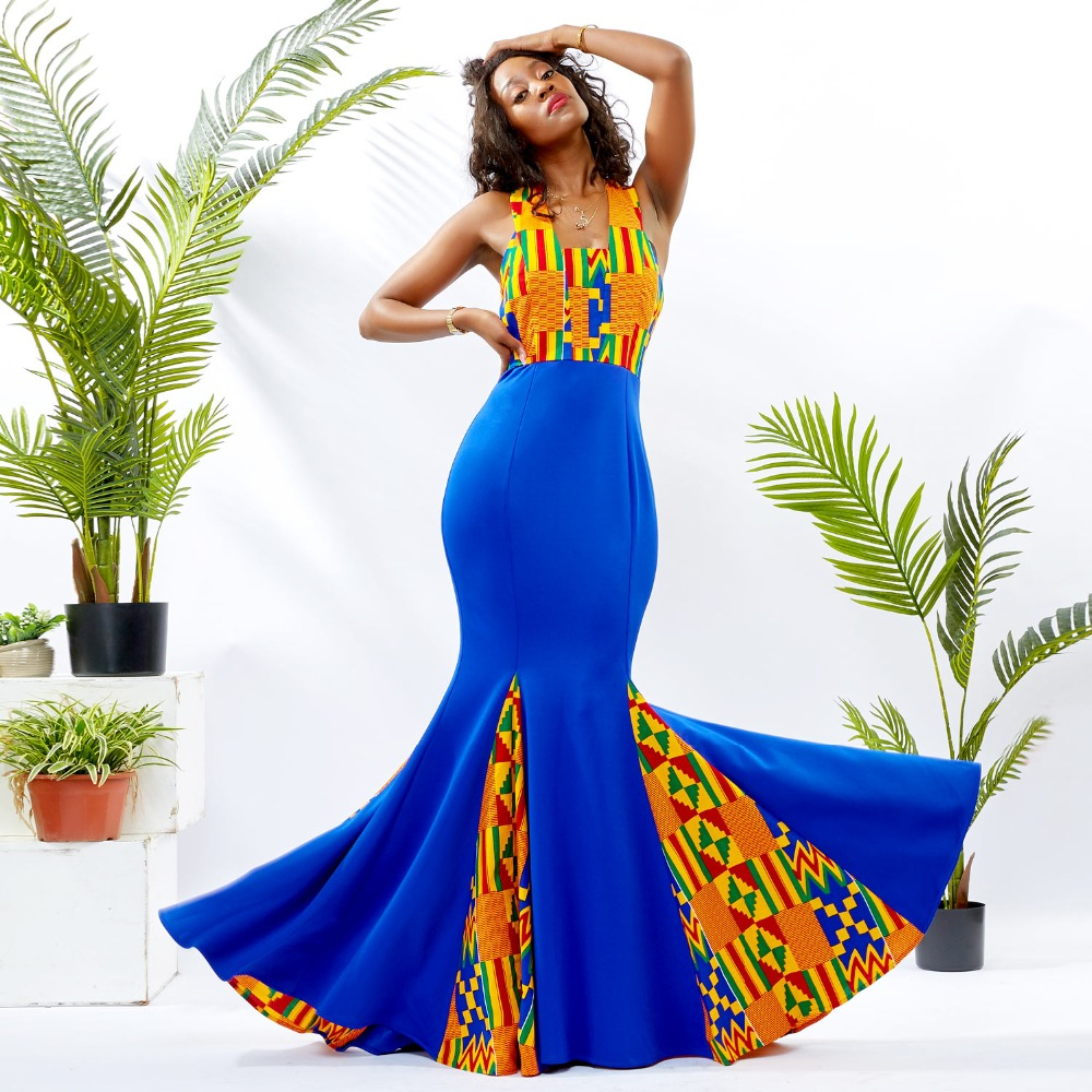 African Dresses For Women Ankara Dresses Africain Women Dress African Women Clothing Cotton Wax Traditional Africanl Clothing