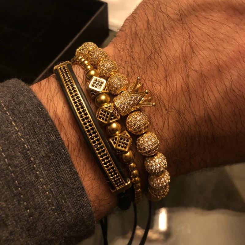 b891a1480f1e ZORCVENS Acero inoxidable pulseras ajustables para mujeres Crsytal oro plata  Color cadena brazalete y pulsera