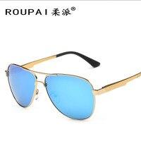 New polarized óculos de sol de alumínio e magnésio aviação brilhante cor dos óculos de sol óculos de condução motorista marca roupai atacado nr08
