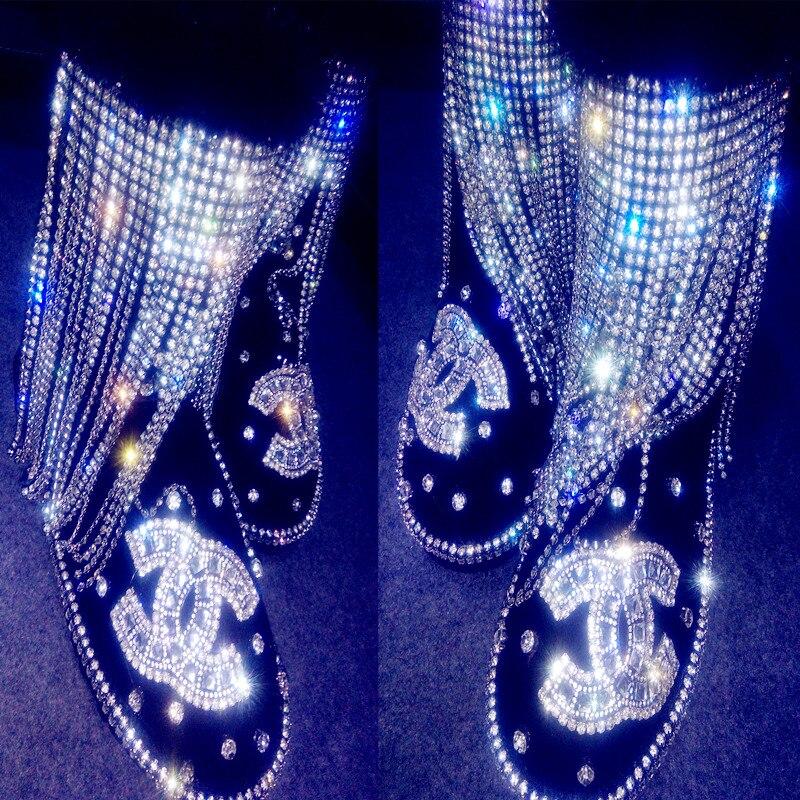 New arrival luxury ruslana korshunova winter version of the luxurious mink hair small tassel female boots in leatherNew arrival luxury ruslana korshunova winter version of the luxurious mink hair small tassel female boots in leather