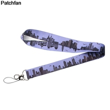 Patchfan City Landscape kids cartoon lanyards neck straps phones keys bag camera id card holders key chain webbing ribbons A1962 все цены
