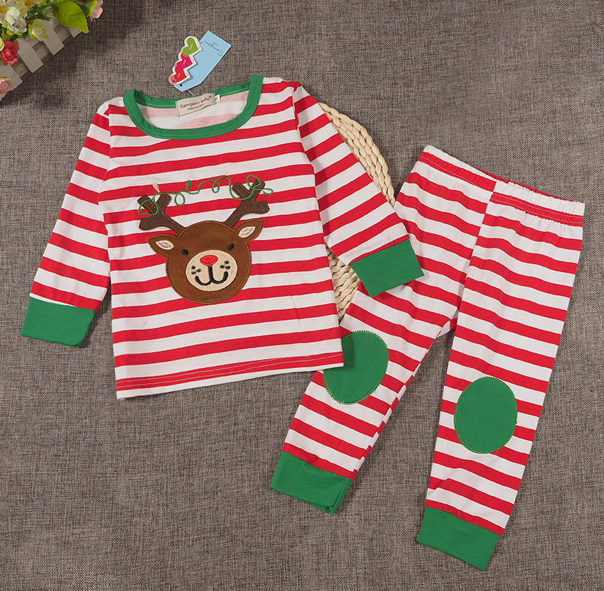 Christmas baby clothing for men and women two-piece leisurewear baby young virgin suit of pajamas SWE278
