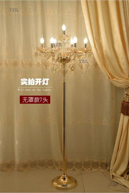 Floor lamp crystal standing lamp European living room luxury simple modern bedroom wedding creative American standing Lamp