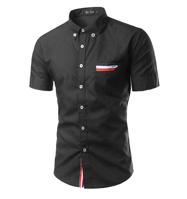 Men's Shirts Male Casual Brand Slim Fit  Short Sleeve Shirts