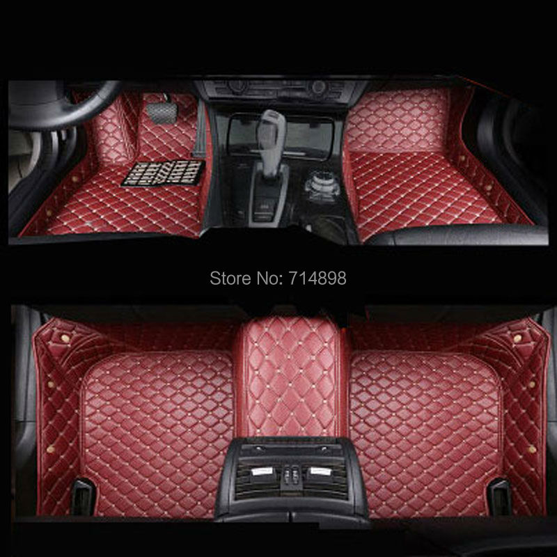Carnong Leather Car Floor Mat Proper Fit For 5 Or 7 Seater Custom Full Set Front And Rear Auto Fitted Carpet In Mats From