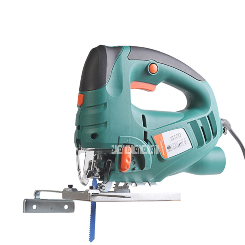 JS100C Electric Curve Saw Multi-function Mini Home Laser Curve Saws Woodworking Tools Laser Chainsaw 220v 50Hz 800W 800-3000/min jig saw electric woodworking curve saw power tools multifunction chainsaw hand saws cutting machine wood 220v