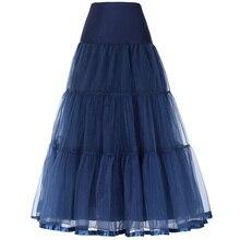 Fashion Black White Tulle Skirts Women Pleated Long Skirt Saia Long Vestido Wedding Petticoat Faldas Midi Tutu Empire Maxi Skirt