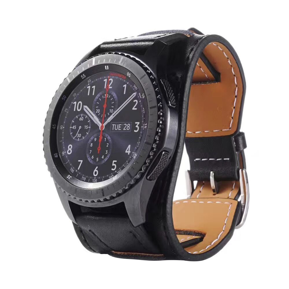 genuine leather watch band bracelet for samsung galaxy watch 46mm 42mm gear s3 frontier huawei