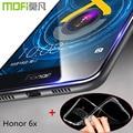Honor 6x vidrio templado film protector de pantalla huawei mate 9 lite full cover huawei honor cubierta hauwei x6 funda de silicona 6 x volver