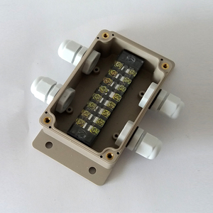 Image 3 - ABS Wasserdichte Anschlussdose Verbindung Outdoor Indoor Verteilung Überwachung Box Elektrische Gehäuse Fall Mit Kabel Drüsen