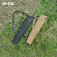 Hot Sell Arrow Quiver Shoulder-back Design Made of Pure Leather 52X13cm in Black/Yellow for Archery Hunting Shooting
