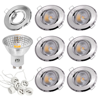 YWXLIGHT 6pcs 5W LED Light Cup COB Spotlight 500 lm GU10 Recessed Ceiling Light Mounting Frame Kit AC 110V AC 220V