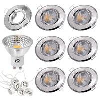 YWXLIGHT 6pcs 5W LED Light Cup COB Spotlight 500 lm GU10 Recessed Ceiling Light Mounting Frame Kit AC 110V AC 220V
