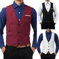 Men Casual Formal Slim Fit Business Dress Tops Tuxedo Vest Suit Waistcoat Wholesale