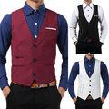 Men Casual Formal Slim Fit Business Dress Tops Tuxedo Vest Suit Waistcoat Wholesale