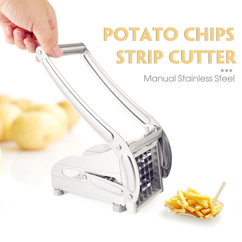 New Household Potato Strip-Cutter Stainless Steel Hand-Operated Chips French Fry Cutters Carrot Cutter Fruit Vegetable Tools Z30 Картофель фри