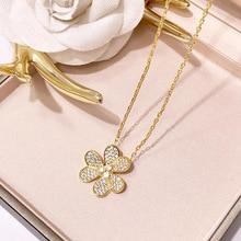 Bilincolor fashion rose gold crystal clear cubic zirconia fl