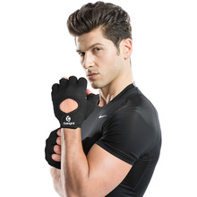 Kuangmi Anti-slip Breathable Half Finger Fitness Gloves Gym Weightlifting Cycling Bodybuilding Sports Training Men Women