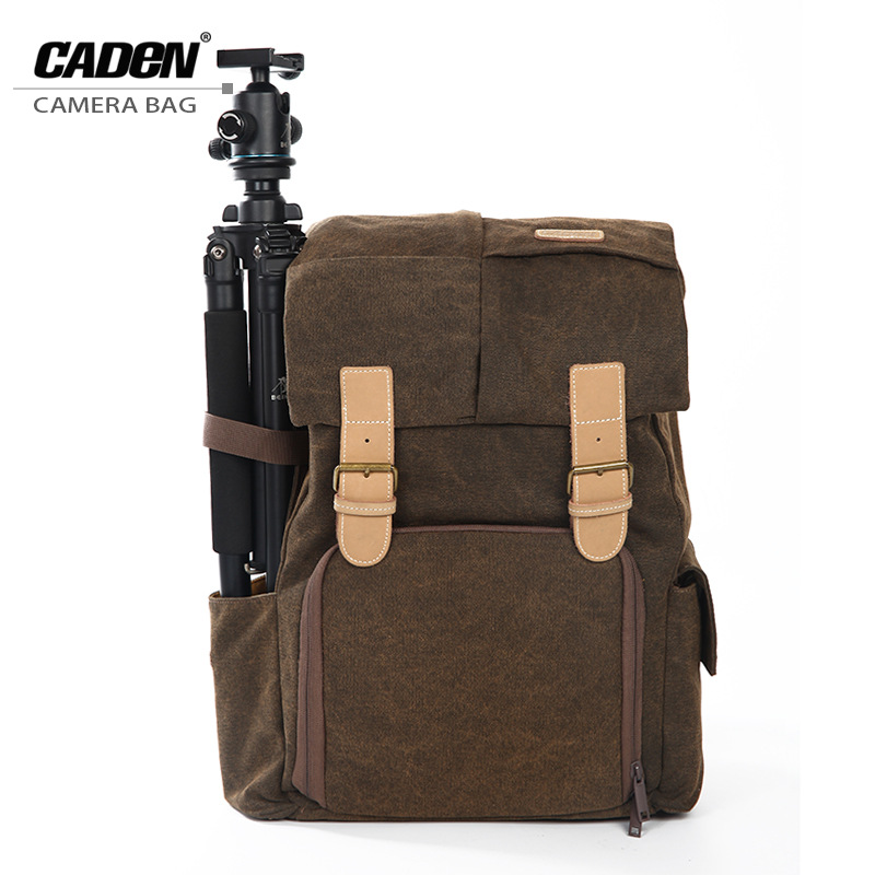 CADeN Multi-functional  Digital DSLR Photo Camera Bags with Tripod Belt Rain Cover Case N5 for Canon EOS 1200D 1100D 760D 750D caden n5 camera backpack video dslr slr case canvas multi functional camera bags with tripod belt rain cover