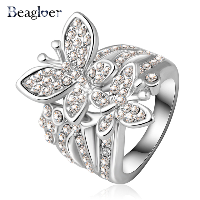 forever rings brilliant diamond ring wedding rose gold engagement butterfly moissanite