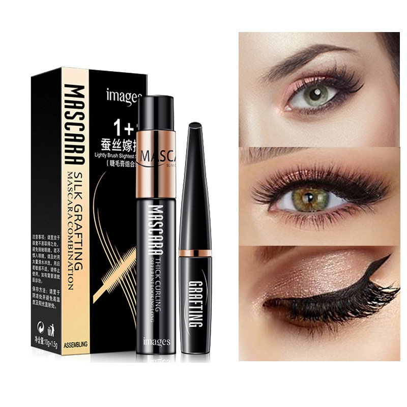 e02ac69d257 4d Fiber Lash Mascara Volume Lengthening Thick Eyelashes Extension 3D Black  Long Lashes Curling Makeup Waterproof Liquid Rimel