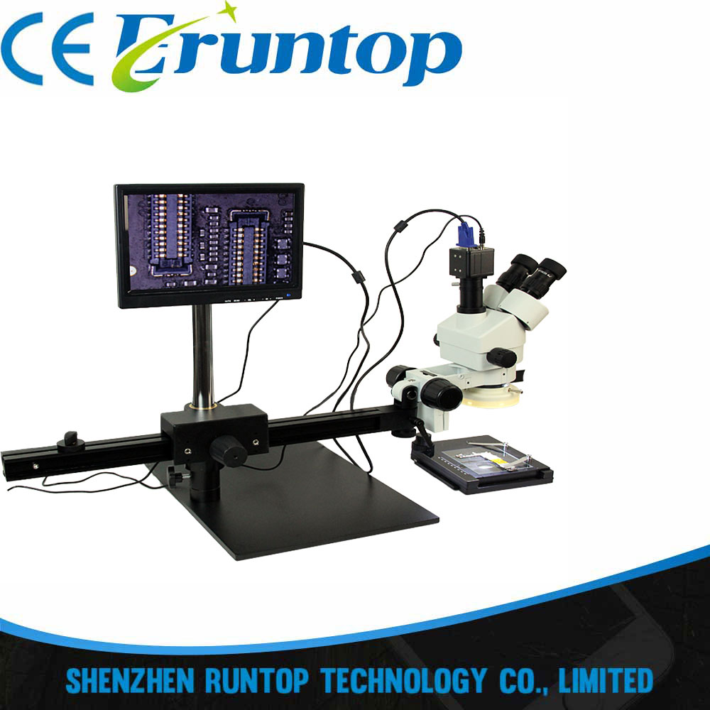 Newest ACHI TBK-45L Best Multi-function Microscope Move Electronic Digital Display 7-45x Zoom Operating CPU Microscope Maintena tbk 45l best multi function microscope move electronic digital display 7 45x zoom operating cpu microscope maintenance