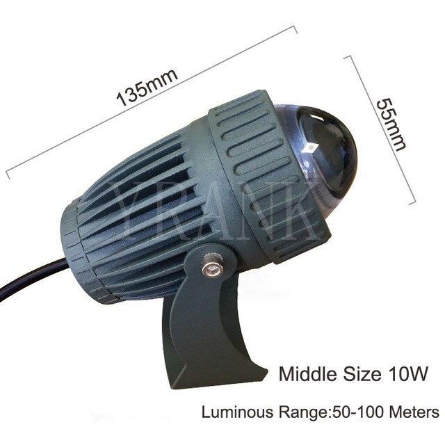 LED extérieure Spot lumière étanche IP65 lampe murale Angle de faisceau étroit éclairage LED 3 W 10 W longue Distance mur rondelle lampe
