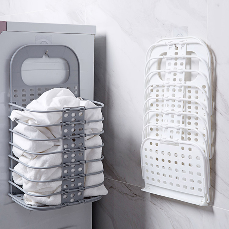 Us 11 82 45 Off Laundry Basket Dirty Clothes Bathroom Folding Hamper Wall Hanging Plastic Large Storage Organizers In