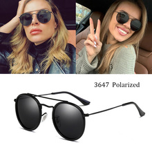 Classic women Round Polarized sunglasses 3647 men Driving car male sun glasses U