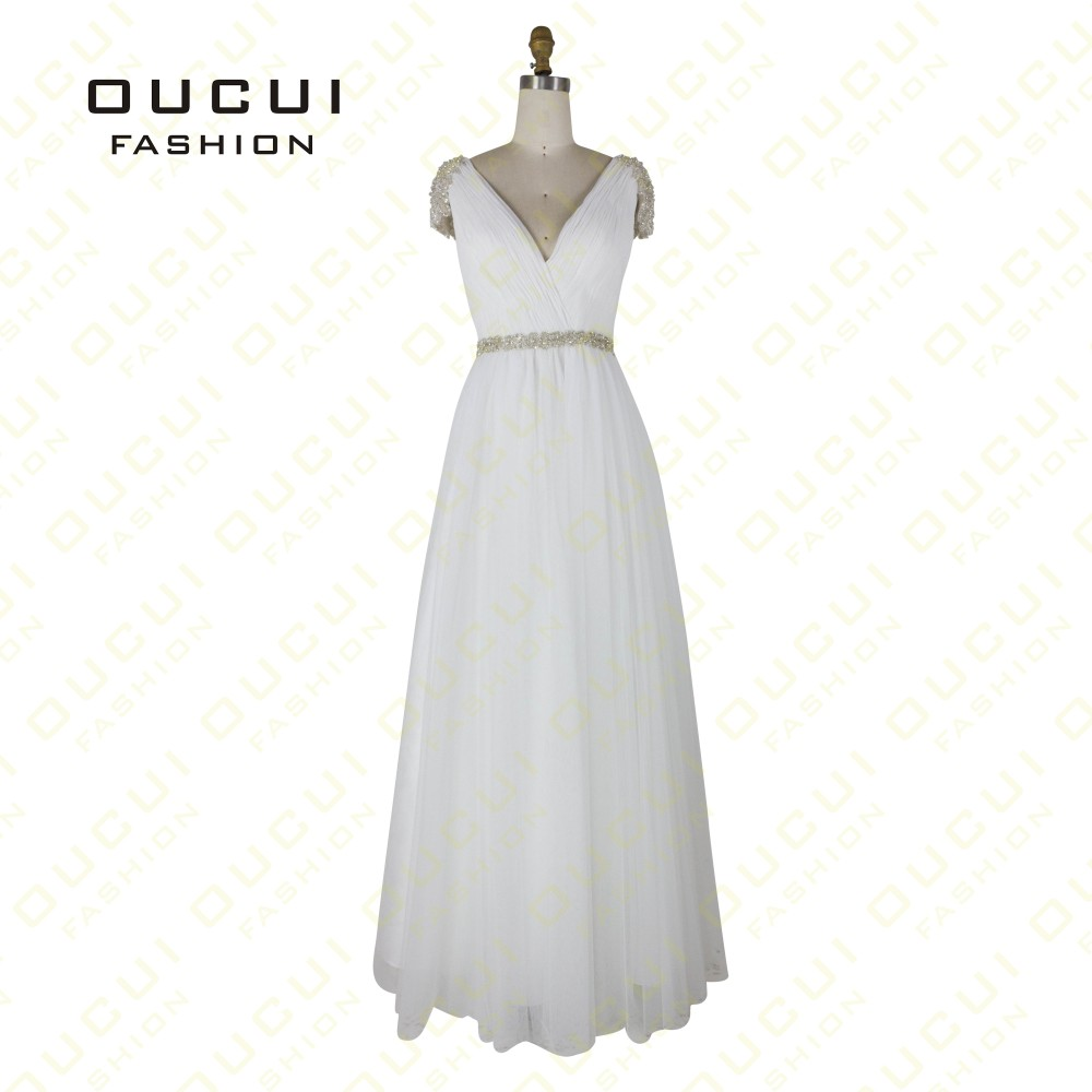 Tulle Fabric Pleat With Beading Handwork Bridesmaid Mermaid Long Prom Dress With Stones OL102785 vestido de festa de casamento 16
