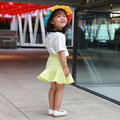 Free shipping new spring and summer fashion casual children girls skirt children skirts pleated high waist skirt umbrella