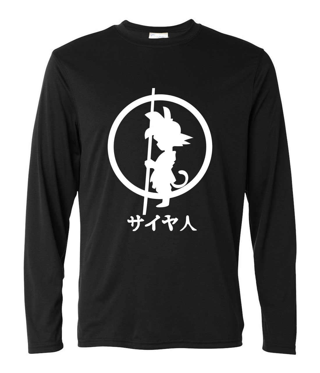 2017 г. Мужская модная одежда с длинным рукавом Harajuku Camisetas Горячая Аниме Dragon Ball футболки Homme Сон Гоку фитнес-Супер Saiyan футболки