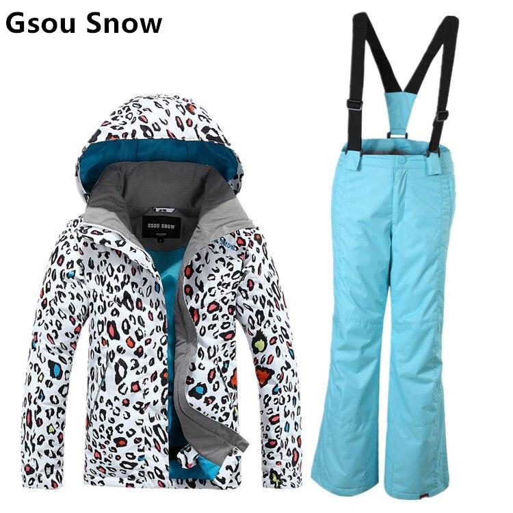 7b9e6eb5f138 Гсоу снег дети лыжный костюм прекрасный дизайн Leopard зерна ...