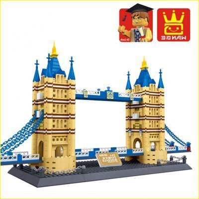 THE tower bridge of 8013 Building Block compatible with  8013 bridge Enlighten Educational  DIY Construction Bricks toys