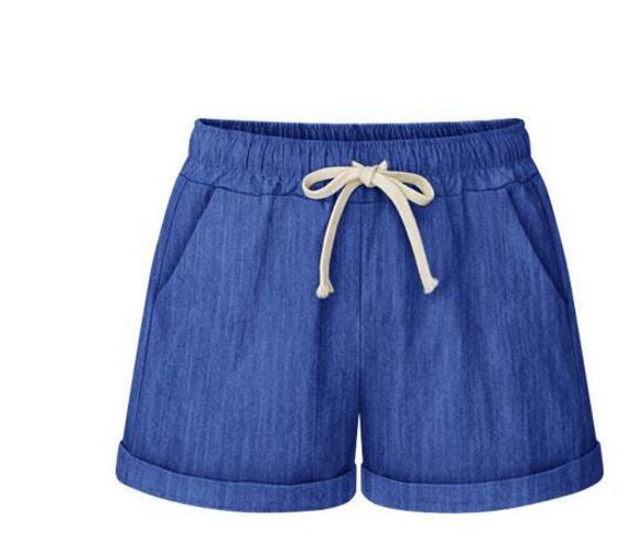 M-6XL Women Summer Fashion Cotton Linen Wide Leg   short   Loose Casual Elastic High Waist   Shorts   Beach Female   Short