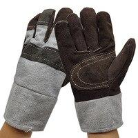 Werk Driver Handschoenen Koeienhuid Lederen Beveiliging Dragen Veiligheid Werken Lassen Warme Handschoenen Voor Mannen-in Veiligheidshandschoenen van Veiligheid en bescherming op