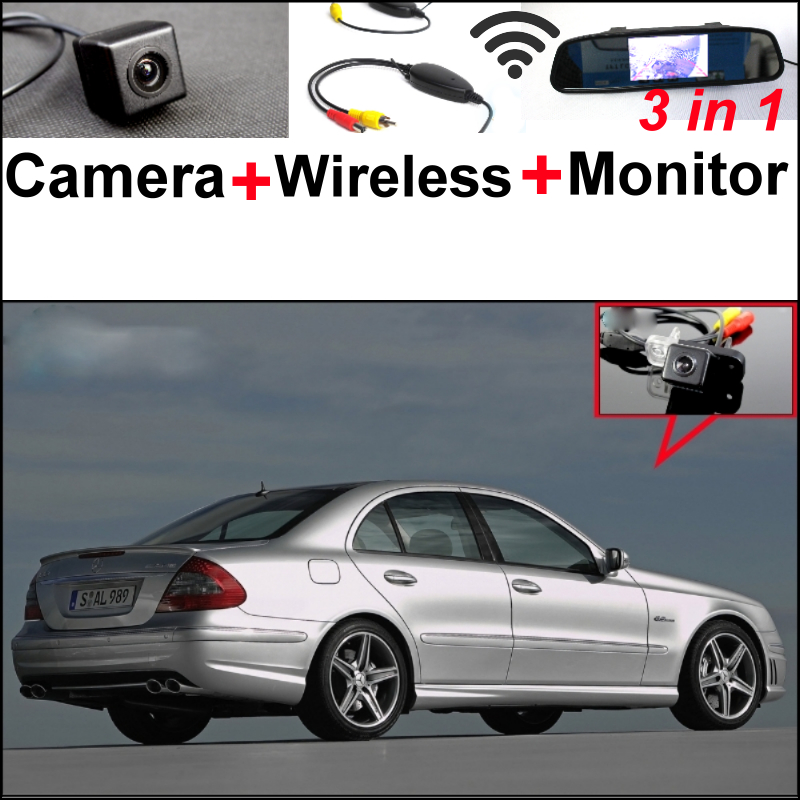 Special WiFi Camera + Wireless Receiver + Mirror Monitor 3in1 Easy DIY Parking System For Mercedes Benz MB E Class W211 wireless pager system 433 92mhz wireless restaurant table buzzer with monitor and watch receiver 3 display 42 call button