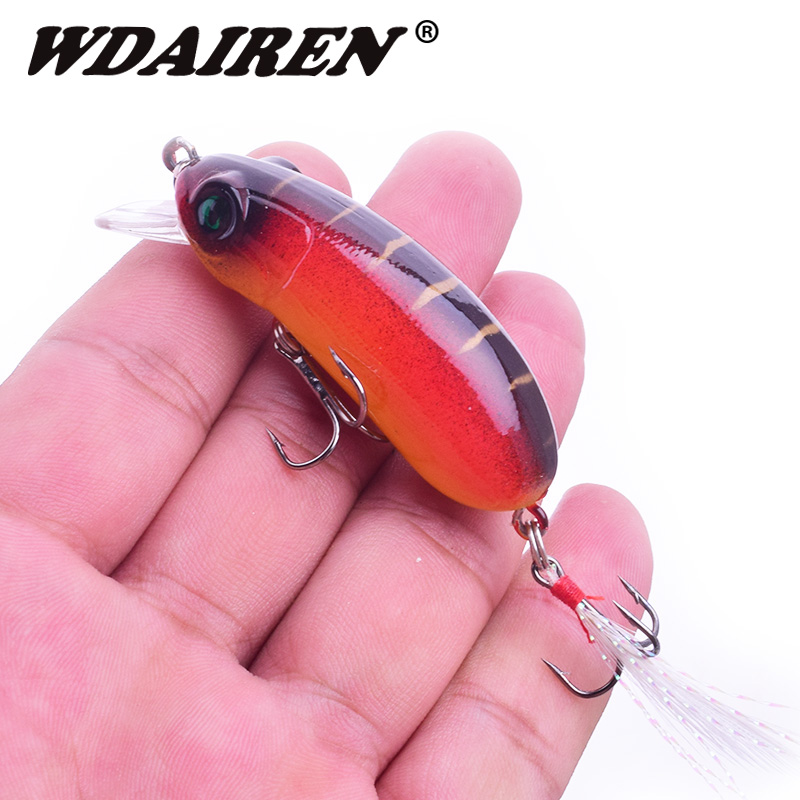 1Pcs fishing bait hard lures 6cm 9.5g Minnows Crankbait Wobblers Peche Bass artificial feather treble hook bait Pike squid bait new 1pcs 45mm 3g fishing lures treble hook paillette bait